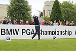 Martin Wiegele (AUT) tees off on the 1st tee to start his round on Day 2 of the BMW PGA Championship Championship at, Wentworth Club, Surrey, England, 27th May 2011. (Photo Eoin Clarke/Golffile 2011)