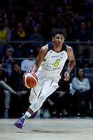 July 14, 2016: MATISSE THYBULLE (4) of the Washington Huskies dribbles the ball during game 2 of the Australian Boomers Farewell Series between the Australian Boomers and the American PAC-12 All-Stars at Hisense Arena in Melbourne, Australia. Sydney Low/AsteriskImages.com
