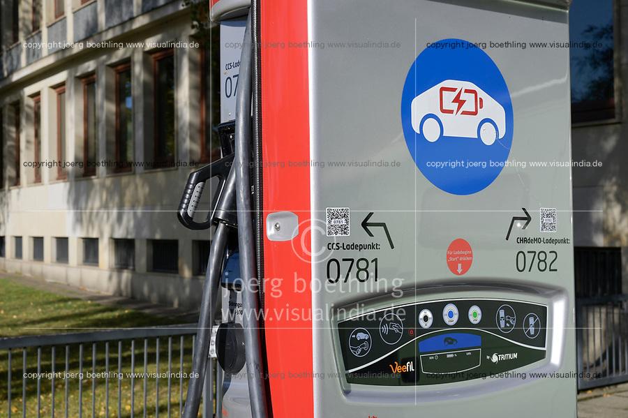 GERMANY, Hamburg, public charging station for e-cars / DEUTSCHLAND, Hamburg, öffentliche Ladestation von Stromnetz Hamburg fuer Elektroautos