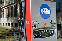 GERMANY, Hamburg, public charging station for e-cars / DEUTSCHLAND, Hamburg, öffentliche Ladestation von Stromnetz Hamburg fuer Elektroautos