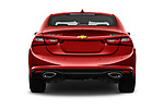 Straight rear view of a 2018 Chevrolet Malibu Premier 4 Door Sedan stock images