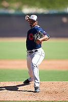 Cleveland Indians pitcher Dalbert Siri (45) during an Instructional League game against the Los Angeles Dodgers on October 10, 2016 at the Camelback Ranch Complex in Glendale, Arizona.  (Mike Janes/Four Seam Images)