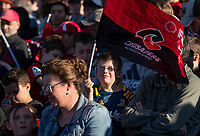 Fans at the 2020 Super Rugby match between the Crusaders and Highlanders at Orangetheory Stadium in Christchurch, New Zealand on Saturday, 9 August 2020. Photo: Joe Johnson / lintottphoto.co.nz