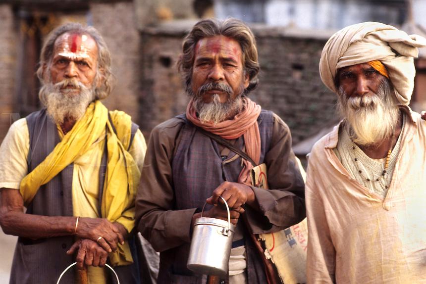 Close up of religious men with wonderful character in Kathmandu Nepal Katmandu