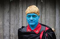Blue Nazi Man, Emerald City Comicon, Seattle, WA, USA.