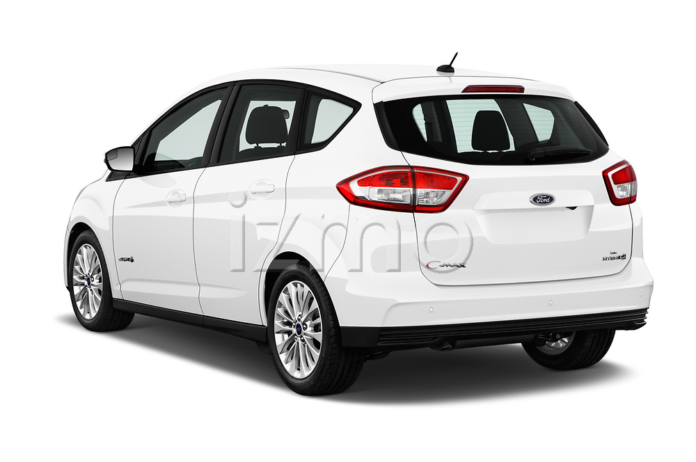 Car pictures of rear three quarter view of 2018 Ford C-Max SE-Hybrid 5 Door Mini MPV Angular Rear