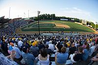 A crowd of 3,018 fans were on hand to watch the West Virginia Mountaineers take on the Wake Forest Demon Deacons in Game Four of the Winston-Salem Regional in the 2017 College World Series at David F. Couch Ballpark on June 3, 2017 in Winston-Salem, North Carolina.  The Demon Deacons walked-off the Mountaineers 4-3.  (Brian Westerholt/Four Seam Images)