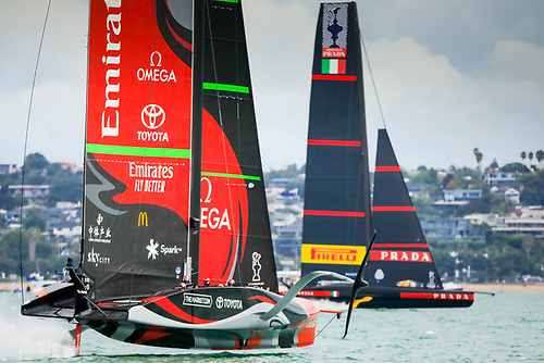 The 36th America's Cup in Auckland Harbour in March