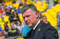 Phoenix head coach Ufuk Talay during the ISPS Handa Premiership football match between Wellington Phoenix Reserves and Southern United at Sky Stadium in Wellington, New Zealand on Saturday, 11 January 2020. Photo: Dave Lintott / lintottphoto.co.nz