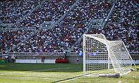 USA fans and goal at Rice-Eccles Stadium, in Salt Lake City, UT, Saturday, June 4, 2005. USA won 3-0.
