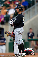 James Darnell (25) of the San Antonio Missions in the batters box during a game against the Northwest Arkansas Naturals at Arvest Ballpark on June 30, 2011 in Springdale, Arkansas. (David Welker / Four Seam Images)