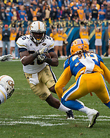 Georgia Tech running back Dedrick Mills. The Pitt Panthers defeated the Georgia Tech Yellow Jackets 37-34 at Heinz Field in Pittsburgh, Pennsylvania on October 08, 2016.