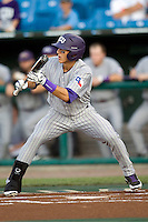 TCU's Jerome Pena in Game 6 of the NCAA Division One Men's College World Series on Monday June 21st, 2010 at Johnny Rosenblatt Stadium in Omaha, Nebraska.  (Photo by Andrew Woolley / Four Seam Images)