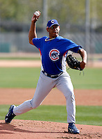 Carlos Marmol - Chicago Cubs - 2009 spring training.Photo by:  Bill Mitchell/Four Seam Images