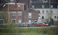 the peloton rides out of Compiègne to move to the official start<br /> <br /> 114th Paris-Roubaix 2016