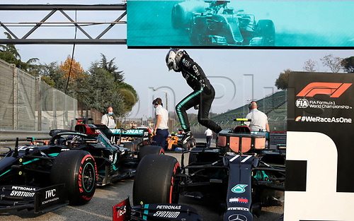 31st October 2020, Imola, Italy; FIA Formula 1 Grand Prix Emilia Romagna, Qualifying;  77 Valtteri Bottas FIN, Mercedes-AMG Petronas Formula One Team  takes pole