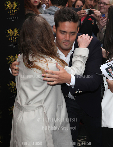 Louise Thompson and Spencer Matthews arriving for the Lipsy Fashion Awards,  at Dstrkt, London. 29/05/2013 Picture by: Alexandra Glen / Featureflash
