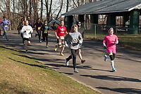 The 2018 Barnesville Park Rotary Lake 5K walk/run, Barnesville, Ohio March 31, 2018.