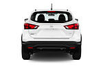 Straight rear view of 2019 Nissan Rogue-sport S 5 Door SUV Rear View  stock images