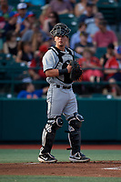 Tri-City ValleyCats catcher Korey Lee (35) during a NY-Penn League game against the Brooklyn Cyclones on August 17, 2019 at MCU Park in Brooklyn, New York.  The game was postponed due to inclement weather, Brooklyn defeated Tri-City 2-1 in the continuation of the game on August 18th.  (Mike Janes/Four Seam Images)