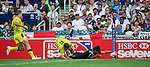 New Zealand vs Australia during the HSBC Sevens Wold Series match of the Cathay Pacific / HSBC Hong Kong Sevens at the Hong Kong Stadium on 28 March 2015 in Hong Kong, China. Photo by Juan Manuel Serrano / Power Sport Images
