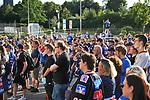 Gedenken der Adler Mannheim Fans an der SAP Arena nach dem Tod von Stadionsprecher Udo Scholz.<br /> <br /> Foto © PIX-Sportfotos *** Foto ist honorarpflichtig! *** Auf Anfrage in hoeherer Qualitaet/Aufloesung. Belegexemplar erbeten. Veroeffentlichung ausschliesslich fuer journalistisch-publizistische Zwecke. For editorial use only.
