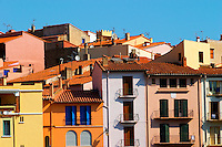 Collioure. Roussillon. Typical village houses. France. Europe.