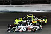 #46: Chandler Smith, Kyle Busch Motorsports, Toyota Tundra iBUYPOWER/828 Logistics, #88: Matt Crafton, ThorSport Racing, Ford F-150 Ideal Door/Menards
