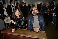 Valerie LEMERCIER, Kad MERAD dans le decor du Petit Nicolas - Vernissage de l'exposition Goscinny - La Cinematheque francaise 02 octobre 2017 - Paris - France