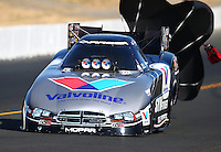 Jul. 26, 2014; Sonoma, CA, USA; NHRA funny car driver Jack Beckman during qualifying for the Sonoma Nationals at Sonoma Raceway. Mandatory Credit: Mark J. Rebilas-