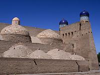 Kuppeln, Xiva, Usbekistan, Asien, UNESCO-Weltkulturerbe<br /> domes, historic city Ichan Qala, Chiwa, Uzbekistan, Asia, UNESCO heritage site