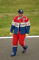 NHRA Top Fuel driver Cory McClenathan during a 2003 drag race in Englishtown, NJ. Mandatory Credit: Mark J. Rebilas