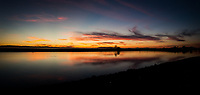 A panoramic sunset.  Captured along the eastern shore of San Francisco Bay, at the small boat lagoon at the San Leandro Marina Park.