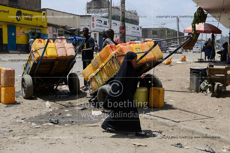 KENYA, Nairobi, refugees from Somalia in suburban Eastleigh also called Little Mogadishu due to major Somali population / KENIA, Nairobi, Stadtteil East-Leigh der durch seinen hohen Anteil an somalischen Fluechtlingen auch Klein Mogadishu genannt wird