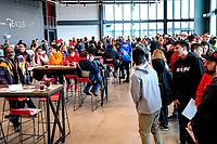 Washington, DC - Sunday JAN 26, 2020: Fans in attendance at the DC Defenders open house at  Audi Field in Washington, DC. (Photo by Phil Peters/Media Images International)