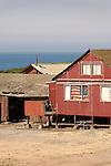 Old Barn with flag, Coastal Route 1, Monteray, California