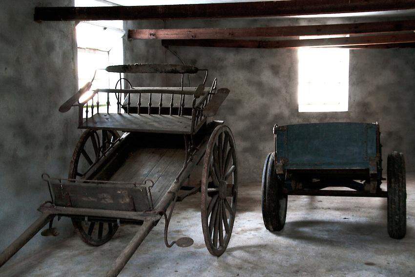 Sulkys in a Norwegian barn