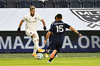 KANSAS CITY, KS - OCTOBER 24: Diego Rubio #11 Colorado Rapids with the ball during a game between  at Children's Mercy Park on October 24, 2020 in Kansas City, Kansas.
