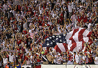 COLUMBUS, OHIO - SEPTEMBER 11, 2012:  Fans of the USA MNT celebrate the goal against Jamaica during a CONCACAF 2014 World Cup qualifying  match at Crew Stadium, in Columbus, Ohio on September 11. USA won 1-0.