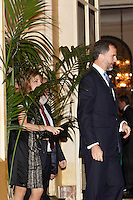 Prince Felipe of Spain and Princess Letizia of Spain attend the 'Francisco Cerecedo Journalism Award' ceremony at the Ritz Hotel in Madrid. November 20, 2012. (ALTERPHOTOS/Caro Marin) /NortePhoto