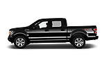 Car driver side profile view of a 2018 Ford F-150 XLT 4wd SuperCrew 4 Door Pick Up