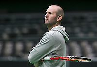 09-02-14, Netherlands,Rotterdam,Ahoy, ABNAMROWTT, Michel Koning (NED) the coach of Igor Sijsling<br /> Photo:Tennisimages/Henk Koster
