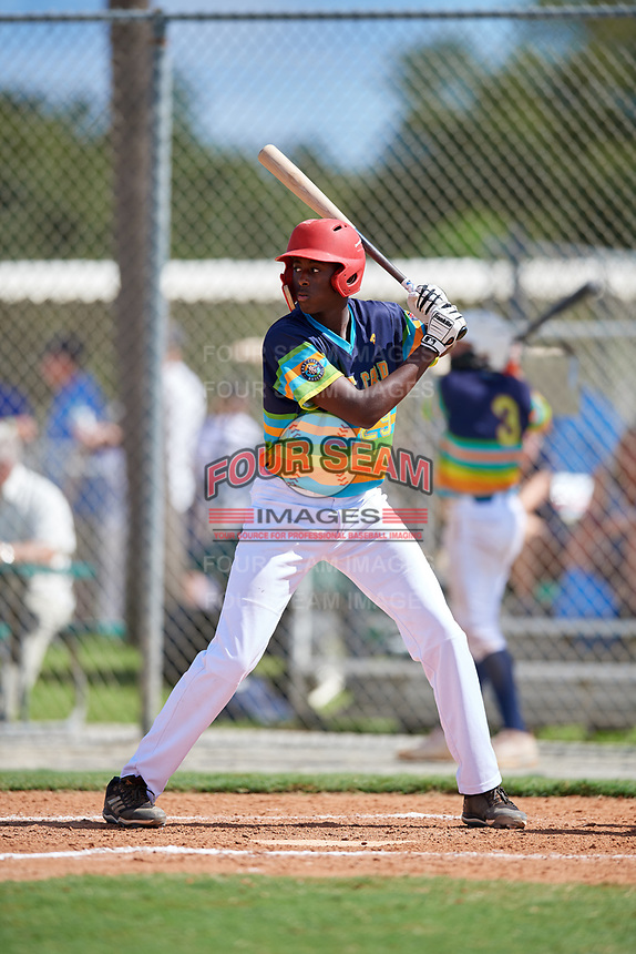 Carlson Reed during the WWBA World Championship at the Roger Dean Complex on October 19, 2018 in Jupiter, Florida.  Carlson Reed.  (Mike Janes/Four Seam Images)