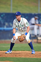 Hartford Yard Goats third baseman Ryan McMahon (13) during the first game of a doubleheader against the Trenton Thunder on June 1, 2016 at Sen. Thomas J. Dodd Memorial Stadium in Norwich, Connecticut.  Trenton defeated Hartford 4-2.  (Mike Janes/Four Seam Images)