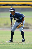 Tampa Bay Rays minor league outfielder Jose Paez (76) during an extended spring training game against the Boston Red Sox on April 16, 2014 at Charlotte Sports Park in Port Charlotte, Florida.  (Mike Janes/Four Seam Images)