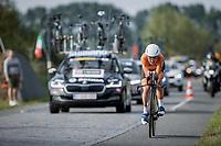 Annemiek Van Vleuten (NED/Movistar)<br /> <br /> 88th UCI Road World Championships 2021 – ITT (WC)<br /> Women Elite Time trial from Knokke-Heist to Brugge (30.3km)<br /> <br /> ©Kramon