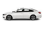 Car Driver side profile view of a 2021 Honda Accord-Hybrid EX-L 4 Door Sedan Side View