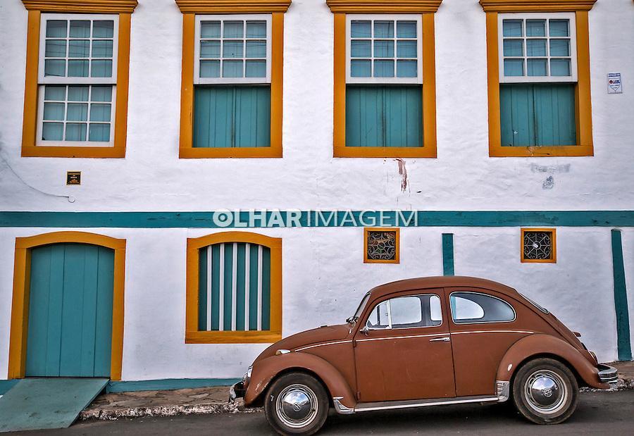 Casas coloniais na cidade de Paracatu. Minas Gerais. 2016. Foto de Ubirajara Machado