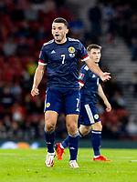 4th September 2021; Hampden Park, Glasgow, Scotland: FIFA World Cup 2022 qualification football, Scotland versus Moldova: John McGinn of Scotland questions a decision