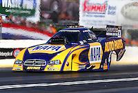 May 16, 2014; Commerce, GA, USA; NHRA funny car driver Ron Capps during qualifying for the Southern Nationals at Atlanta Dragway. Mandatory Credit: Mark J. Rebilas-USA TODAY Sports